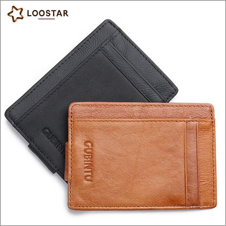 AQU006 Real Leather Card Hold Real Leather Minimalist <strong>Wallet</strong>