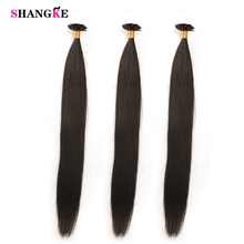 shangke Human Hair Extension Black Remy Long StraightNail Tip 100s/pack Hair Extension