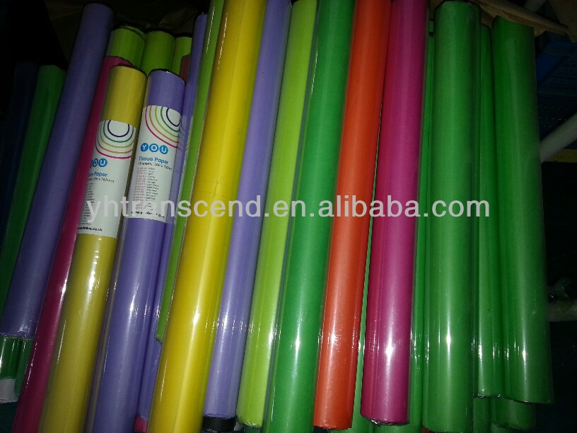 500*760mm colorful tissue paper 48sheets per roll