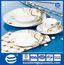 20 pcs round restaurant dinner plates wholesale latest dinner set with popular design