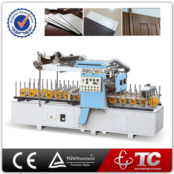 High Quality PVC PP Wood Wrapping door Panel laminating Machine