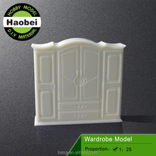 scale plastic miniature crafted model wardrobe furniture
