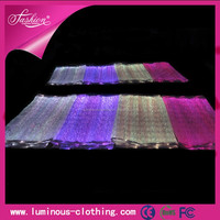 New fashion led luminous lights fiber optic outdoor lighting luminous clothing and accessories