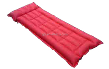 red color rubber air bed rubberised cotton