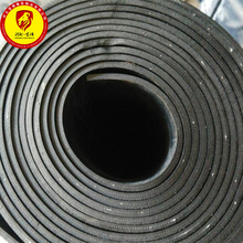 China Factory Cotton Cloth Inserted Neoprene EPDM NBR SBR Rubber Sheet Slab Roll