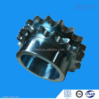 HETD Duplex Roller Chain Sprocket Zn-plated ISO Standard