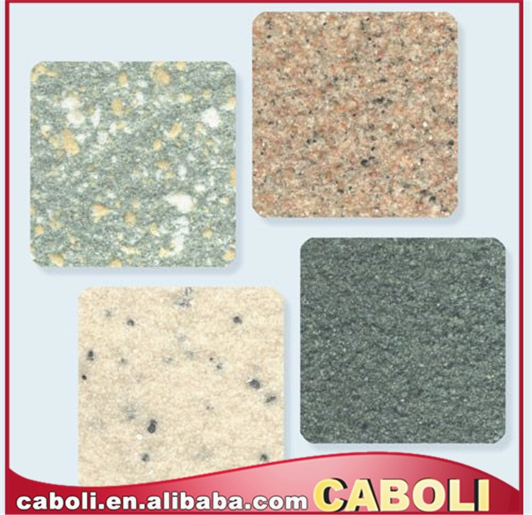 Caboli real stone powder waterborne granite effect paint