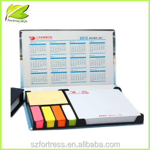 High quality color printing notepad with calendar