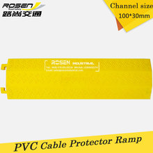 1-channel 100*30mm Yellow PVC Cable Hose Protector Ramps Used for Indoor and Outdorr