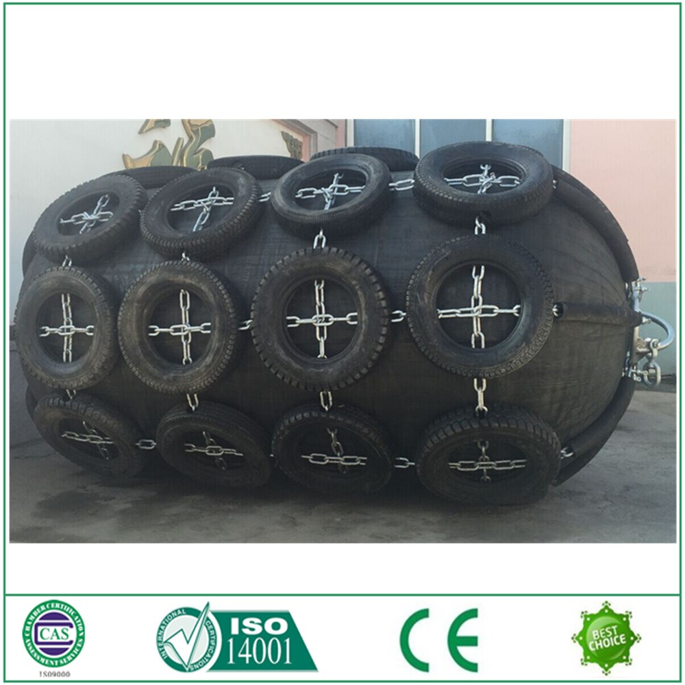 Galvanized Chain and Tire Marine Pneumatic Rubber Fender