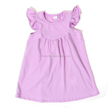 latest baby frock design lavender flutter sleeve dress girls dress names with pictures