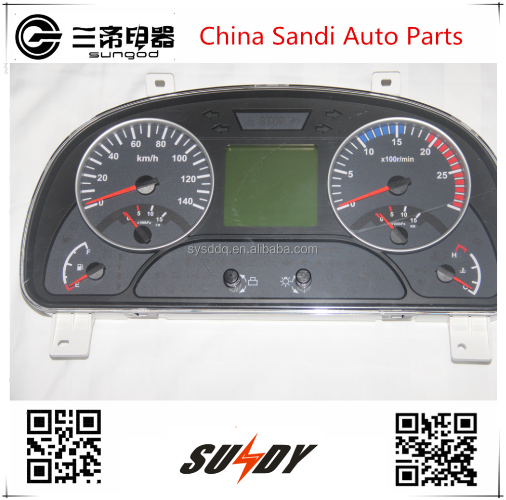 Original DCEC Auto instrument cluster 3801030-C4308 for 24v Dongfeng trucks