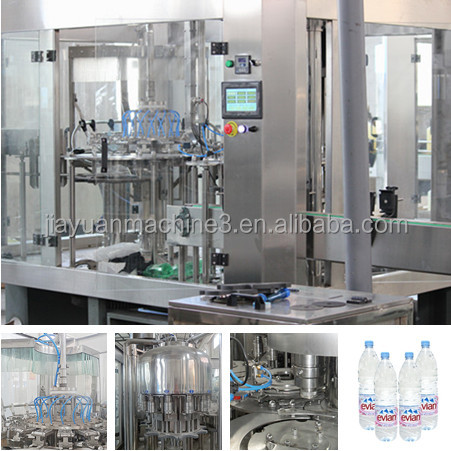 automatic water filling PLC control 3 in 1 water factory project