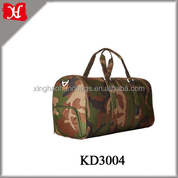 New fashion camouflage Polyester travel duffel bag,waterproof duffel bag