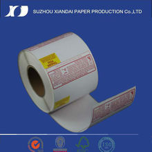 supermarket hot sell water proof direct thermal label with bottle and printing label