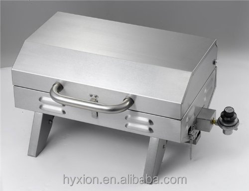 STAINLESS STEEL PORTABLE GAS BAR-B-QUE GRILL FOR TAILGATING,CAMPING
