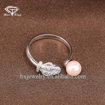 Alibaba hot item customized design bridal white zircon crown ring