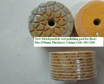 New metal particle floor diamond wet polishing pads
