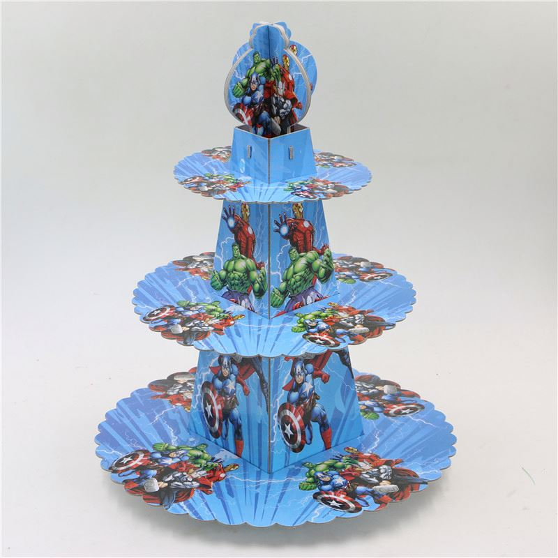 HIC 5 tier tubes cup cake stand, paper 2 tier cake stands