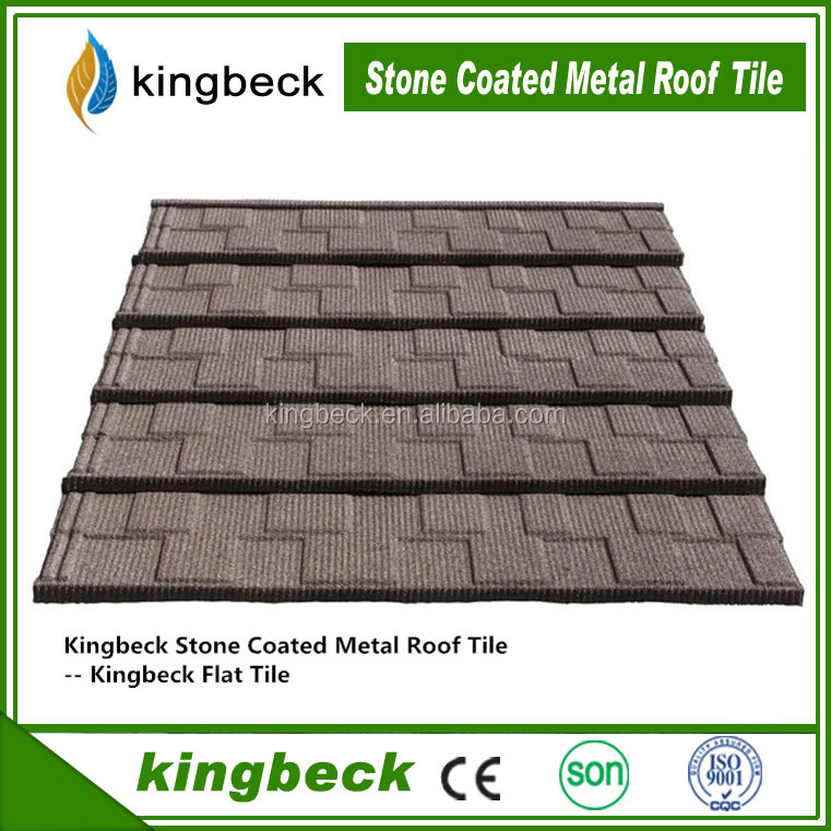 Building material steel metal products natural stone chip coated metal roof tiles from Shandong