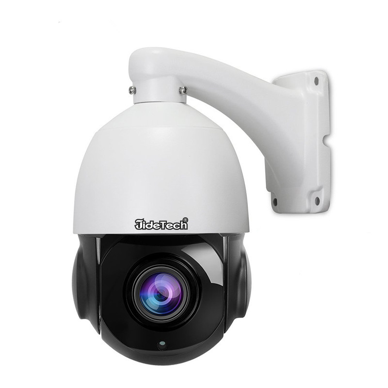 JideTech 5MP 20x zoom PTZ CCTV IP <strong>Camera</strong> Outdoor Waterproof H.265 Night Vision POE dome <strong>Camera</strong>