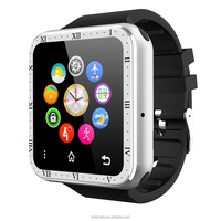 Gold Reloj Intelligente Android Smart Watch Phone FM SIM Wearable Devices Music Reloj Telefono