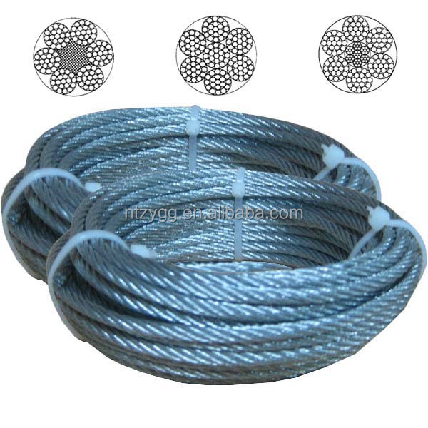 ungalvanized galvanized stainless steel wire rope