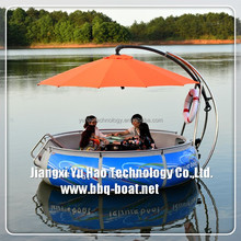 Plastic bbq boat for park original factory, Leisure electric bbq boat