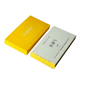 Handmade gold edge paper name cards gold stamping business cards