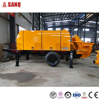 New condition Beide motor concrete pump for construction
