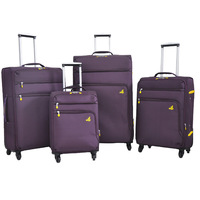 Strong and durable aluminum travel luggage set case