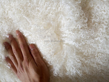 Top-level long hair curly Mongolian baby lamb fur Tibet real lambskin plate fabric