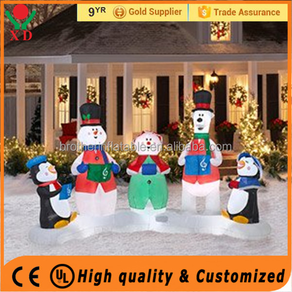 Hot sale customized inflatable fixed cartoon Christmas Man for promotion for advertising