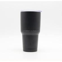 Custom Grained Double Wall Stainless Steel Cooler Coffee Travel Mug