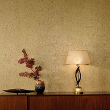 New Material Interior Decoration Wallcovering Golden Cork Wallpaper For Luxury Hotel Design
