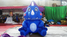 customized blue color mini inflatable dragon inflatable cartoon