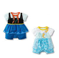 Short Sleeve Babies Ruffle Dress Romper With Frock Design Wholesale