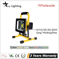 20w removable lithium battery 2200mAh Portable small rechargeable led flood light