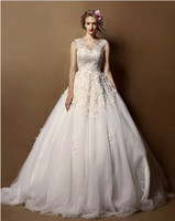 2015 spring new style lace strapless tutu maxi ladies wedding dress