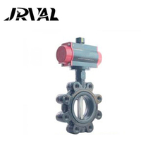 Light weight butterfly valve lug type for cement valve sales