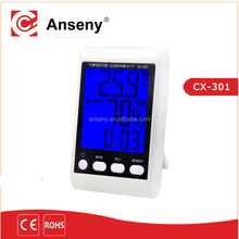 Digital LCD Temperature Humidity Meter Indoor Room Thermometer Clock Hygrometer with sensor
