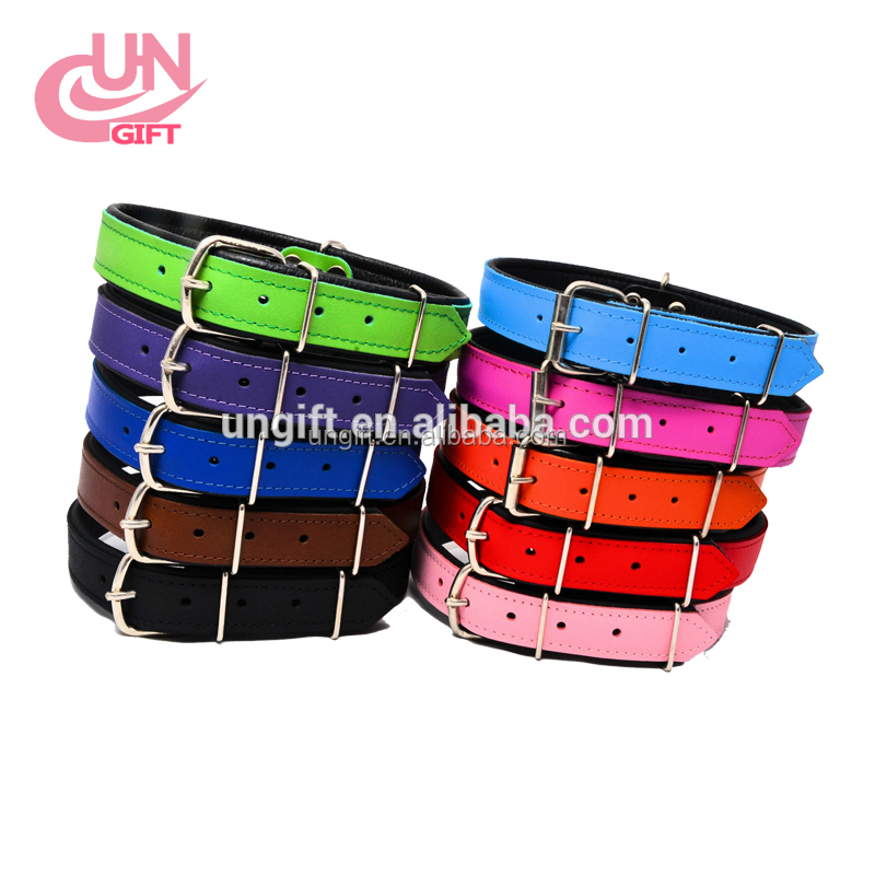 Hot Sale Dog Accessories Soft Studded Leather Dog Collar And Dog Leash