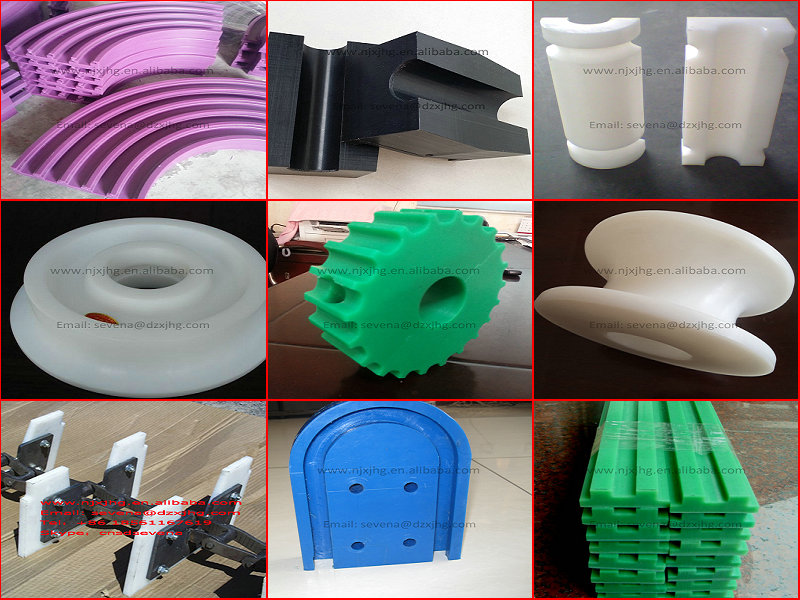 customized CNC machined plastic uhmwpe spare parts