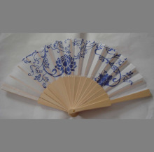 cheap wooden handheld fan for promotion