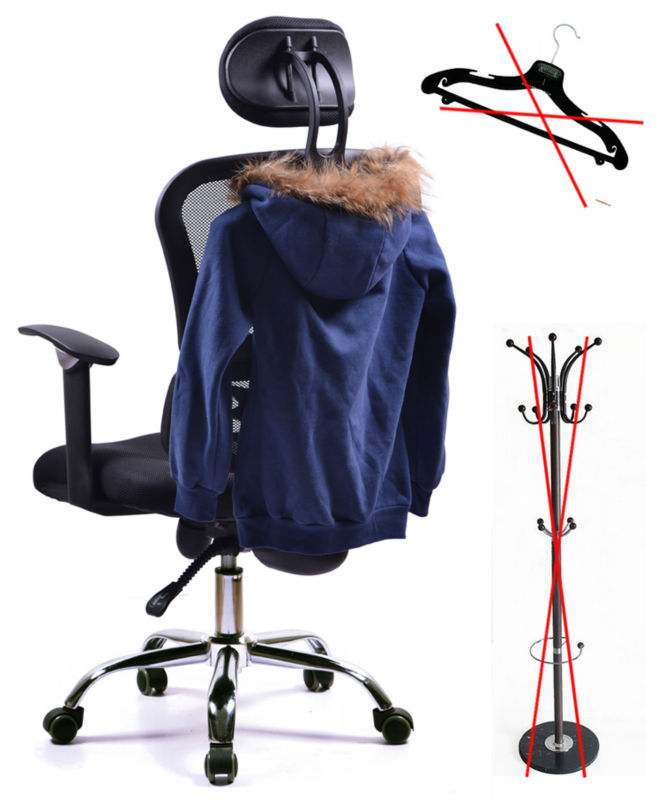 D27 Cosy Korean style mesh ergonomic office president chair with head support
