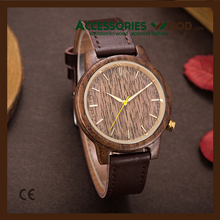 China wholesale quality fashion bussiness men watches with wood