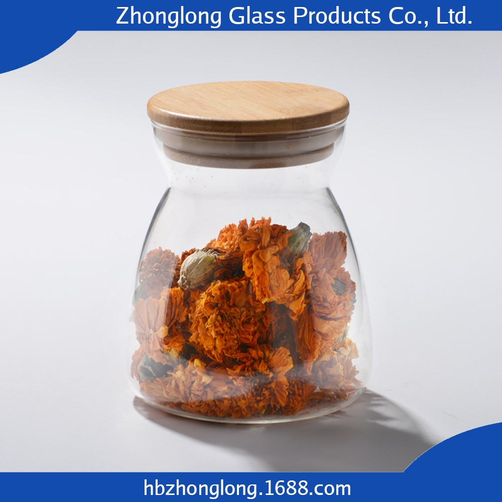 Fashion Design OEM Accepted Glass Storage Jar With Metal Clip Lids