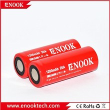 Smoketech most popular Enook 18490 1200mAh 20A 3.7V rechargeable Li-ion battery with flat top