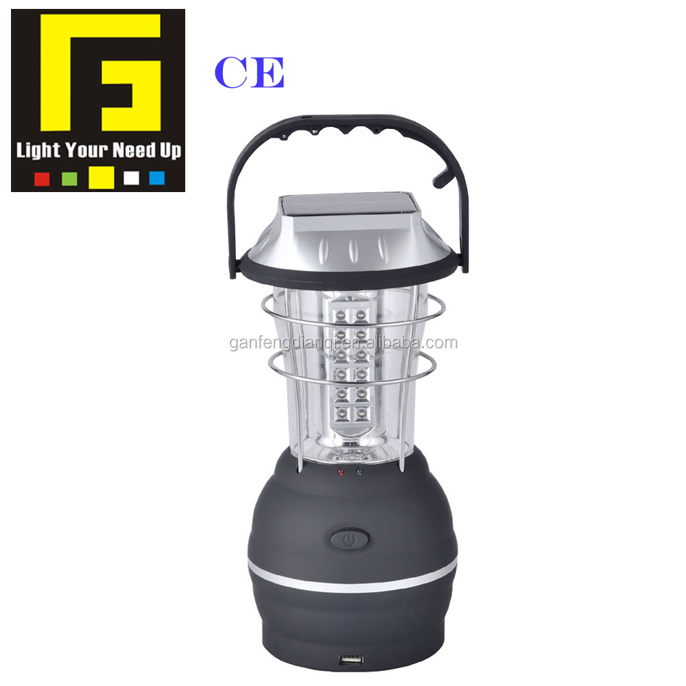 CE emergency light solar camping light led lantern rechargeable light