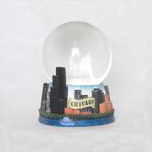 Best price glass chicago snow globe crystal globe